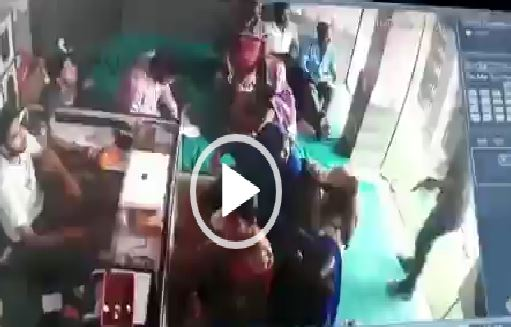 Criminal robbery bullion establishment CCTV video Jaunpur