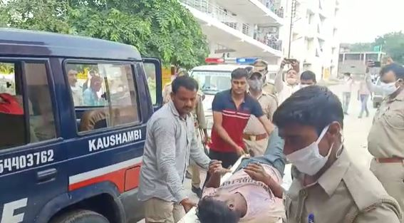 Two murderers arrested police encounter double murder case Kaushambi