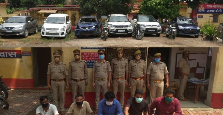 Car thieves gang Bareilly police execute incident