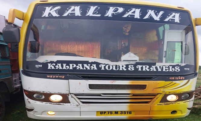 Agra hijack bus Agra police caught in its own trap UP NEWS
