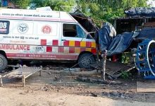 high speed ambulance entered the hut killing one Banda