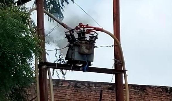 transformers burst with explosion 4 scorched Azamgarh