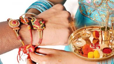 Today Rakshabandhan Rakhi in brother wrist chant mantra