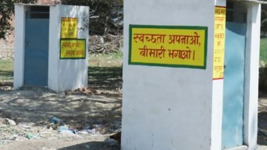 District declared ODF toilets lying incomplete sitapur UP
