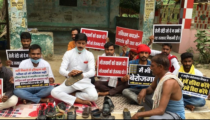 on the birthday of PM Narendra Modi, local SP workers lodged a protest