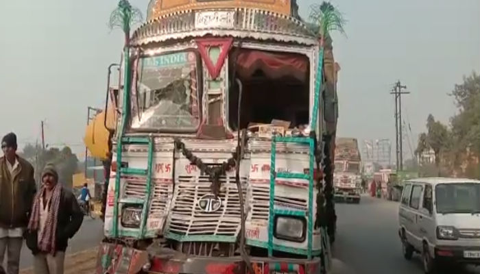 uncontrolled truck