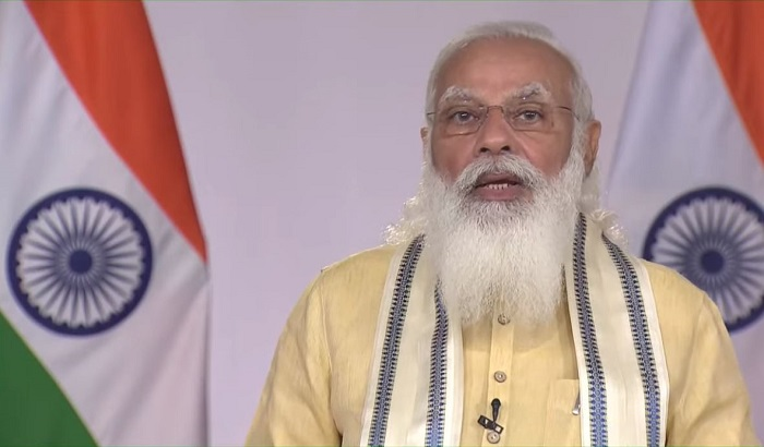 Prime Minister Narendra Modi is addressing the country