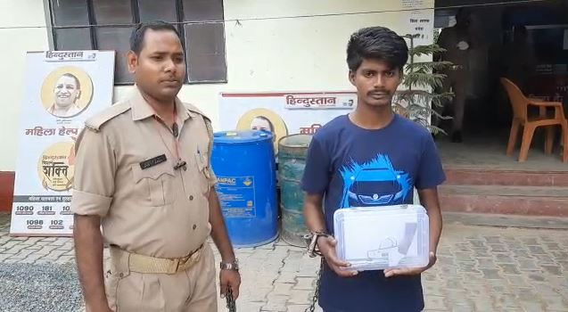 police arrested a robber in an encounter stolen motorcycle also recovered